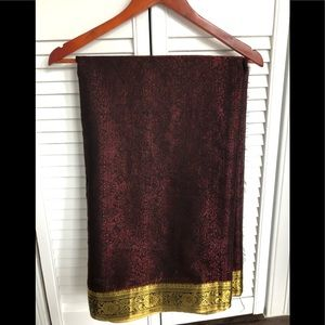 Gently used half silk saree with allover works